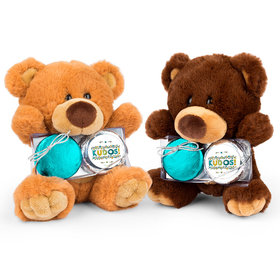 Personalized Thank You Kudos Teddy Bear with Chocolate Covered Oreo 2pk