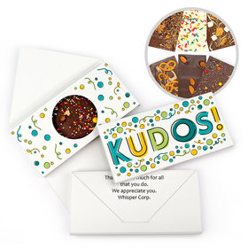 Personalized Kudos Thank You Gourmet Infused Belgian Chocolate Bars (3.5oz)