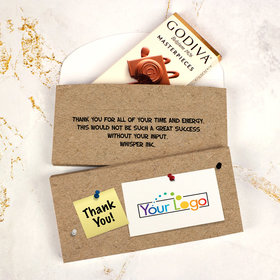Deluxe Personalized Business Add Your Logo Godiva Chocolate Bar in Gift Box