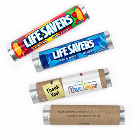 Personalized Thank You Add Your Logo Lifesavers Rolls (20 Rolls)