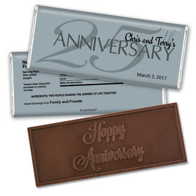 Simple AnniversaryEmbossed Happy Anniversary Bar Personalized Embossed Chocolate Bar Assembled