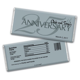Anniversary Party Favors Personalized Chocolate Bar 25th Anniversary Chocolate Favor