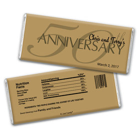 Anniversary Party Favors Personalized Chocolate Bar 50th Anniversary Chocolate Favor