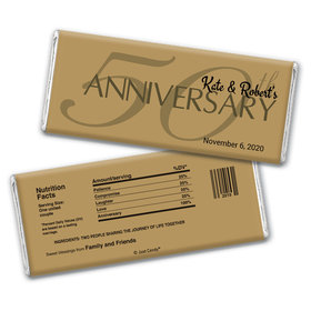 Anniversary Party Favors Personalized Chocolate Bar Wrappers 50th Anniversary Chocolate Favor