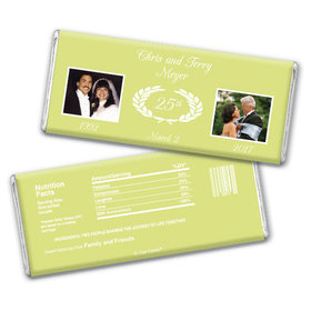 Anniversary Personalized Chocolate Bar Then & Now Photo