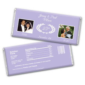 Today & Yesterday Anniversary Favors Personalized Candy Bar - Wrapper Only