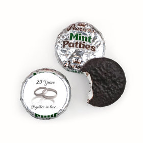 Anniversary Personalized Pearson's Mint Patties Gilded Golden Rings 50th
