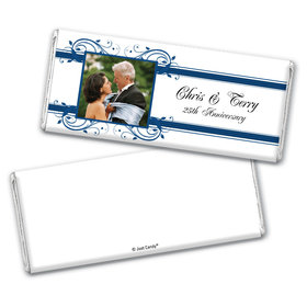 Lives Entwined Anniversary Favors Personalized Candy Bar - Wrapper Only