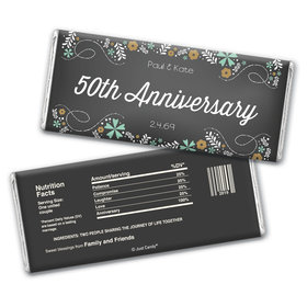 So Much Love Anniversary Favors Personalized Candy Bar - Wrapper Only