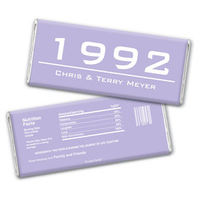 When It Began Anniversary Favors Personalized Candy Bar - Wrapper Only