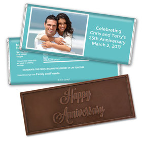 Anniversary Personalized Embossed Chocolate Bar Photo & Message