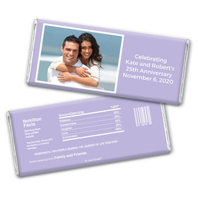 Anniversary Snapshot Party Favors Personalized Candy Bar - Wrapper Only