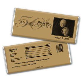 Simple Photo Anniversary Favors Personalized Hershey's Bar Assembled