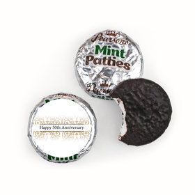 Anniversary Personalized Pearson's Mint Patties Golden 50th