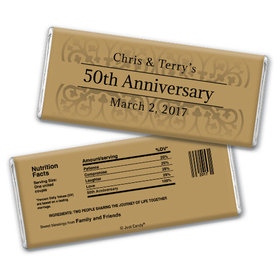 Anniversary Personalized Chocolate Bar Golden 50th