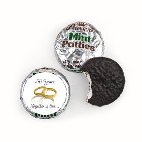 Anniversary Personalized Pearson's Mint Patties Rings