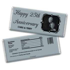 Anniversary Party Favors Personalized Chocolate Bar Wrappers 25th Anniversary Candy - Tomorrow & Forever Party Favors & Wrapper