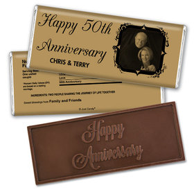 Anniversary Party Favors Personalized Embossed Chocolate Bar 50th Anniversary Candy - Tomorrow & Forever Party Favors & Wrapper