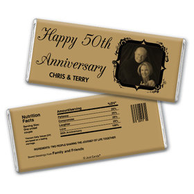 Anniversary Party Favors Personalized Chocolate Bar 50th Anniversary Candy - Tomorrow & Forever Party Favors & Wrapper