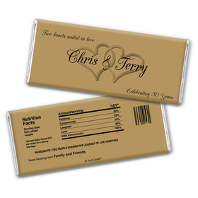 Anniversary Party Favors Personalized Chocolate Bar Wrappers Chocolate & Wrapper Always My One Anniversary Favors