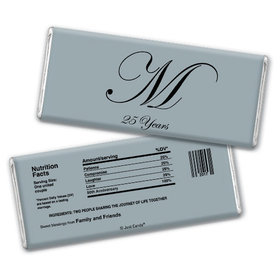Anniversary Party Favors Personalized Chocolate Bar Chocolate & Wrapper Formal 25th Anniversary Party Favors