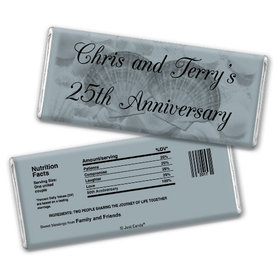 Anniversary Party Favors Personalized Chocolate Bar Chocolate & Wrapper Two of a Kind 25th Anniversary Favors