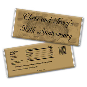 Anniversary Party Favors Personalized Chocolate Bar Wrappers Chocolate & Wrapper Two of a Kind Anniversary Favors