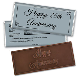 Anniversary Party Favors Personalized Embossed Chocolate Bar Chocolate & Wrapper Simple Truth Anniversary Favors