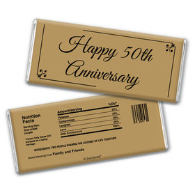 Anniversary Party Favors Personalized Chocolate Bar Chocolate & Wrapper Simple Truth 50th Anniversary Favors