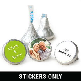 "Add Your Photo Anniversary 3/4"" Sticker (108 Stickers)"