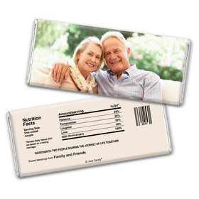 All About Love Anniversary Favors Personalized Candy Bar - Wrapper Only