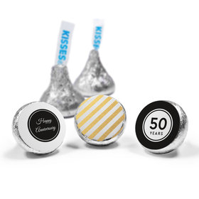 Personalized HERSHEY'S KISSES Shimmering Stripes Anniversary Favors (50 Pack)