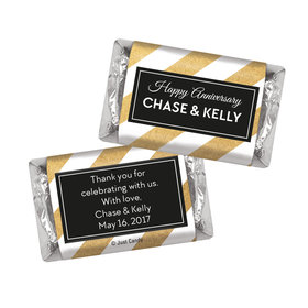 Personalized HERSHEY'S MINIATURES Shimmering Stripes Anniversary Favors