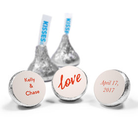 Personalized HERSHEY'S KISSES Bubbling Love Anniversary Favors (50 Pack)