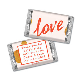 Personalized HERSHEY'S MINIATURES Wrappers Bubbling Love Anniversary Favors