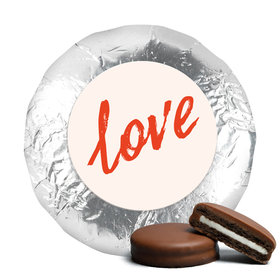 Anniversary Bubbling Love Milk Chocolate Covered Oreo Cookies with Silver Foil (24 Pack)