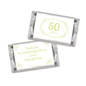 Anniversary Party Favors Personalized Hershey's Miniatures Green Swirls 50th Anniversary Chocolate Favor