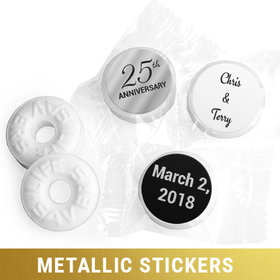 Personalized Life Savers Mints - Metallic Anniversary 25th (300 Pack)