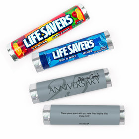 Personalized Anniversary 25th Lifesavers Rolls (20 Rolls)