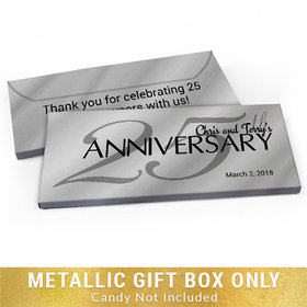Deluxe Personalized Classic 25th Anniversary Candy Bar Favor Box