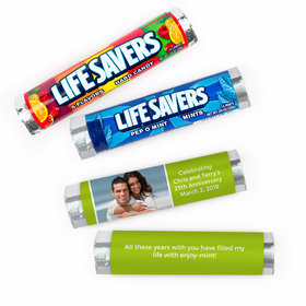Personalized Anniversary Photo Lifesavers Rolls (20 Rolls)