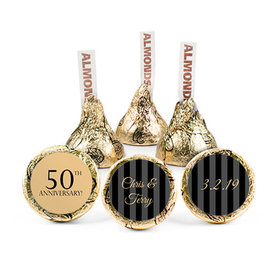 Personalized Anniversary Pinstripe Hershey's Kisses (50 pack)