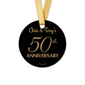 Personalized 50th Anniversary Round Favor Gift Tags (20 Pack)