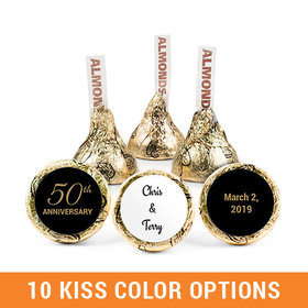 Personalized 50th Anniversary Hershey's Kisses (50 pack)