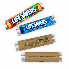 Personalized Anniversary Golden 50th Lifesavers Rolls (20 Rolls)