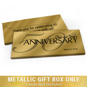 Deluxe Personalized Classic 50th Anniversary Metallic Candy Bar Cover
