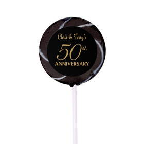 Anniversary Party Favors Personalized Small Swirly Pop 50th Anniversary Favor (24 Pack)
