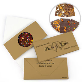Personalized 50th Anniversary Always My One Gourmet Infused Belgian Chocolate Bars (3.5oz)