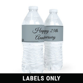 Personalized Anniversary 25th Simple Truth Water Bottle Sticker Labels (5 Labels)