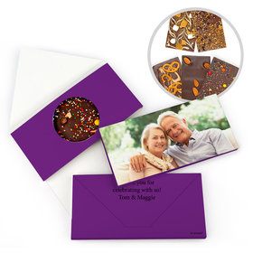 Personalized Photo Anniversary Gourmet Infused Belgian Chocolate Bars (3.5oz)